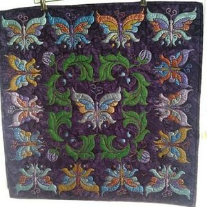 Other - Artisan Butterfly Wall Hanging Hand Painted